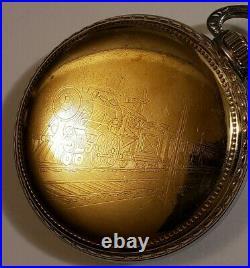 Elgin Scarce 16S. 19J. Adj. Grade 371 fancy dial two-tone case only made 4,000
