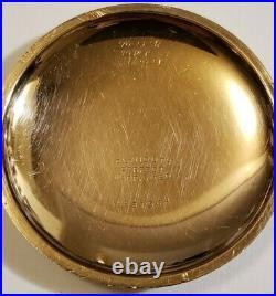 Elgin Scarce 18S. 21J. Adj. Grade 150 mint fancy dial 14K G. F. Case 7,820 made
