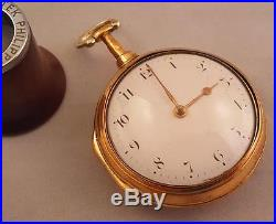 Excellent Gilt Pair Case Verge Fusee By Anthony Wyatt, Oxford Street, London