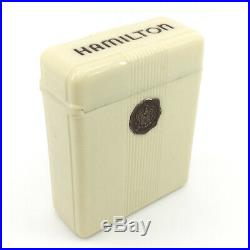 Excellent Hamilton Vintage Railroad Cigarette Pocket Watch Box Case Bakelite