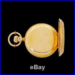 Exceptionally Fine 18k Yellow Gold Elgin 6 Size Barrel Case Pocket Watch
