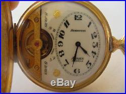 Fantastic 8 Day Exposed Balance Hebdomas Hunting Case Pocket Watch