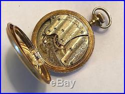 Fine Antique 14k Solid Gold Waltham Watch Co Hunter Case Pocket Watch