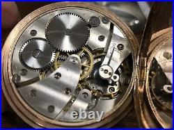 FULL HUNTER GOLD PLATED POCKET WATCH DENNISON CASE SWISS MOVEMENT CIRCA 1900s