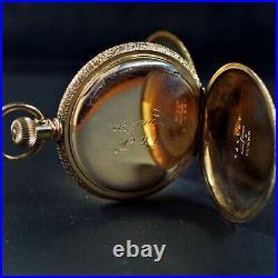 Fantastic 6s Empty Fancy Case (waltham) 14k Ygf Full Hunter C. 1892 Excellent