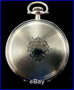 Father Time 16 Size 21 Jewel Fancy Colored Dial Fancy Hunter Case Near Mint