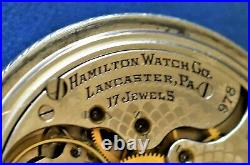 Finely Accurate Canadian Hamilton 17j 16s Adusted Grade 978. Nickle Case