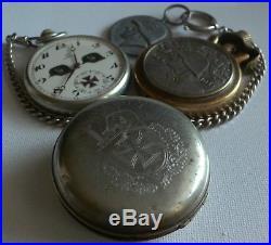 GERMAN WW2 OMEGA Pz. Großdeutschland Pocket Watch, Cigarette Lighter, Chain, Case