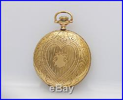 GREAT Looking Elgin 14k Gold Hunting case Antique 16s pocket watch, Fancy Dial