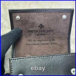 Genuine PATEK PHILIPPE Dark Brown Leather Travel Watch Pouch Case 2 (NEW)
