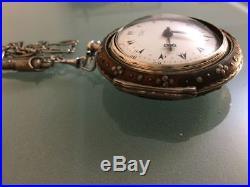 George Prior of London verge fusée pocket watch tortoiseshell triple case 1810