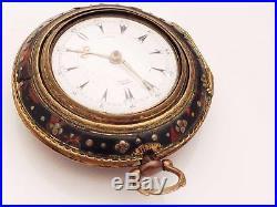 George prior Verge fusse Horn pair case pocket watch No 180