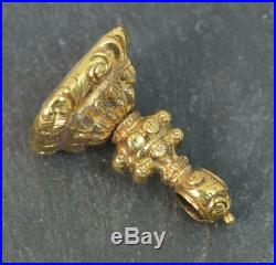 Georgian Gold Cased Pocket Watch Fob Pendant Scottish Thistle Intaglio t0457