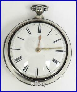 Georgian Pair Cased Pocket Watch Fusee Verge Solid Silver Pocket Watch C1813