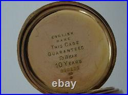 Good Antique Gent's Gold Plated Limit Swiss Made Hunter Cased Pocket Watch
