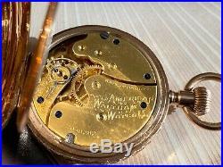 Gorgeous American Waltham 10K Gold Case Ladies Pocket Watch Circa 1896