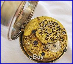 Gorgeous verge Triple case Ottoman Pocket watch George Prior London 1816