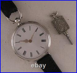 Great SILVER Case ALL Original Serviced English Cylindre1870 Wrist Watch Perfect