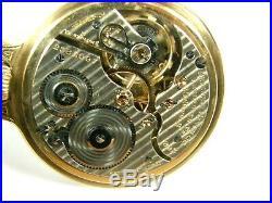 HAMILTON 21j 992E ELINVAR BOC SALESMAN DISPLAY CASE MONTY DIAL POCKET WATCH RR
