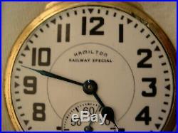 HAMILTON 992B RAILWAY SPECIAL 21J 16SZ POCKETWATCH WithHAMILTON #11 CASE