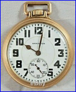 HAMILTON #992 21 JEWEL 16S Railroad POCKET WATCH C1927 HAMILTON RR MODEL CASE