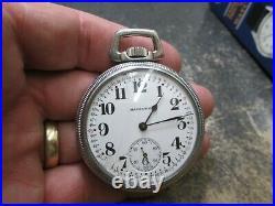 HAMILTON WWII US ARMY 21J RAILROAD FANCY CASE RUNNING 992B MOVEMENT Pocket Watch