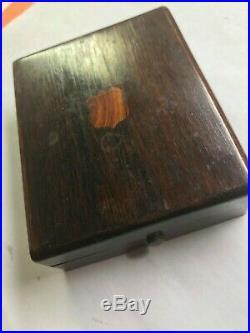 HAMILTON rare SECOMETER POCKET WATCH stamped HAMILTON CASE in wooden box