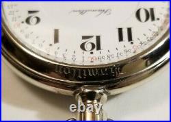 Hamilton 16S. 21 jewel adj grade 990 Montgomery dial Hamilton display case