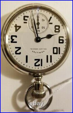 Hamilton 16S. 21 jewel adj grade 992B Railway Special dial (1956) display case