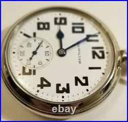 Hamilton 16S. 21 jewel adj grade 992B porcelain boxcar dial (1947) display case