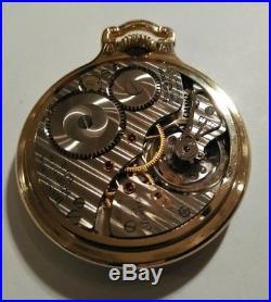 Hamilton 16S. 992B 21 jewels Railway Special Bar Over Crown Case near mint