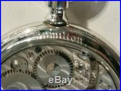 Hamilton 16 size high grade 992B adj. 21 jewels glass back Hamilton display case