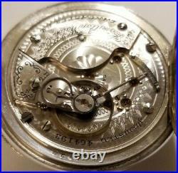 Hamilton 18S 17 jewel adj grade 926 fancy dial 3 oz. Sterling silver case (1904)
