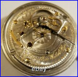 Hamilton 18S. 17 jewel adj grade 926 gold trimmed movement (1903) display case