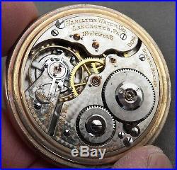 Hamilton 19 Jewel, Grade 996 Pocket Watch, Railroad Grade, Factory Display Case
