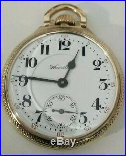 Hamilton 21 jewel 16S. Very late 992B (1970) Railroad 10K. R. G. P. Hamilton case
