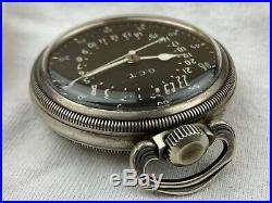 Hamilton 4992B GCT 22J WWII Military Army Navigation 1940s Pocket Watch With Case