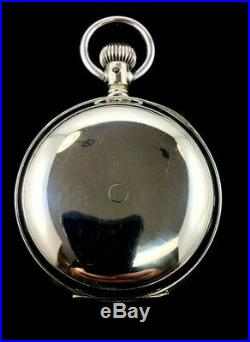 Hamilton 925 18s 17J Nickel Silver Hunter Case Extra Fine Condition