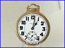 Hamilton 992B Railroad Pocket Watch 21j Housed in 10K G. F. BOC Case c1953
