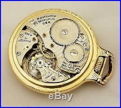 Hamilton 992B Railway Special Model 2 Case Pocket Watch with Orig Cigarette Case