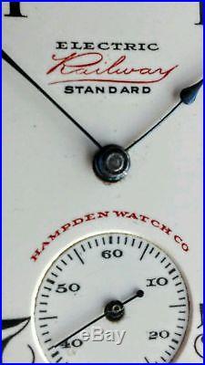 Hampden 16s Electric Railway Standard 17j Of Pocket Watch Keystone Gf Case Runs