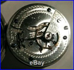 Hampden 18 size 16 jewels grade No. 44 fancy dial (1896) silverode case