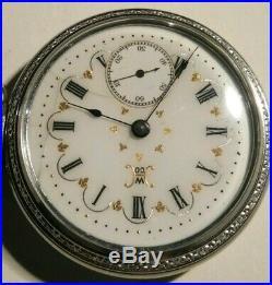 Hampden 18 size 7 jewels Champion fancy dial (1900) base case