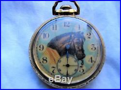 Hampden 21j Model 105 pocket watch in a Bunn Special case, with an unusual dial