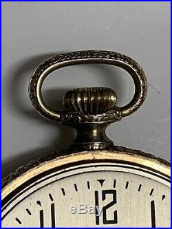 Hampden Dueber Pocket Watch Gr 109 16s 15j IWC Supreme Gold Filled Case Ticking