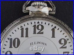 ILLINOIS 21 JEWEL BUNN SPECIAL 60 HOUR MOTOR BARREL CRISP WHITE BUNN CASE