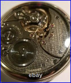 ILLINOIS BUNN SPECIAL RARE 16S. 21 jewels adj. Fish Scale Illinois display case