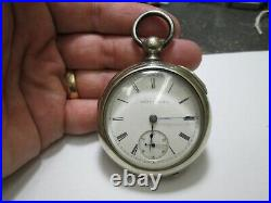 ILLINOIS MENS KEY WIND EARLY 668636 SER # LARGE SIZE CASE RUNNING Pocket Watch