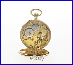 IWC 1909 solid 18k gold 32mm case chronometer pocket watch nearmint perfect