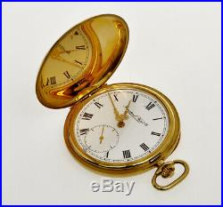 IWC vintage 1971 18k hunting case pocket watch special Cal. 982 Movement mint